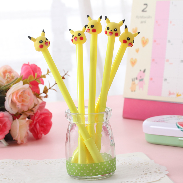 Korean Creative Stationery Wholesale Yellow Rabbit Pocket Pet Baby Neutral Pen 0.38 Mm Black