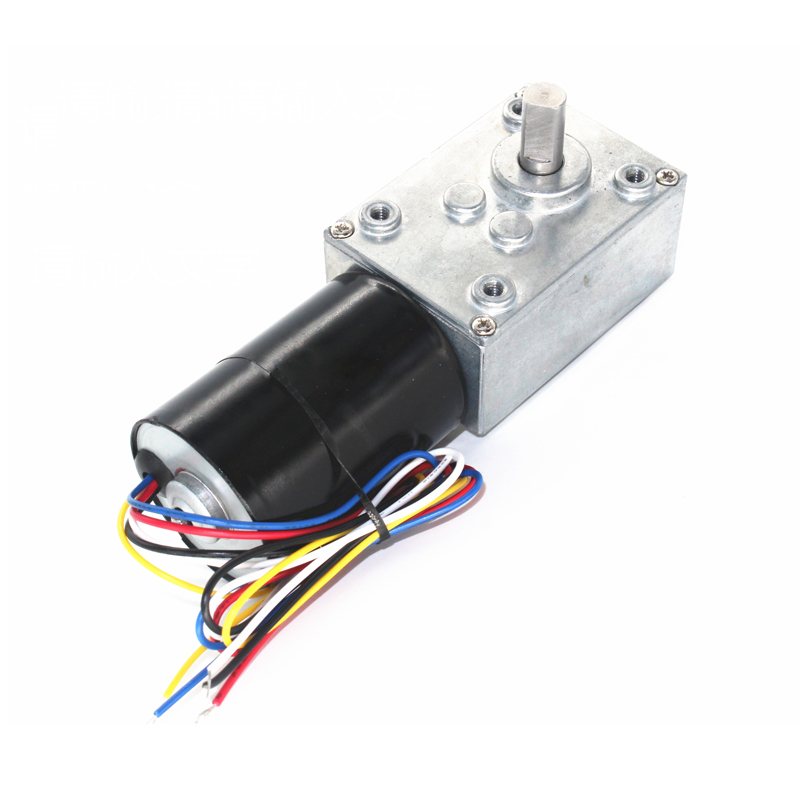 5840 DC brushless worm gear motor, self-locking brake signal feedback, 12V 24V brushless motor wholesale 5840 3650 brushless dc motor worm gear motor with 24v brushless motor for reversible 12 volt gear motor