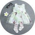 2016 Летний Ребенок Цветок платье принцессы Девушки день рождения новорожденных Кружевном платье балетной пачки девушки платье vestido infantil малыша платье