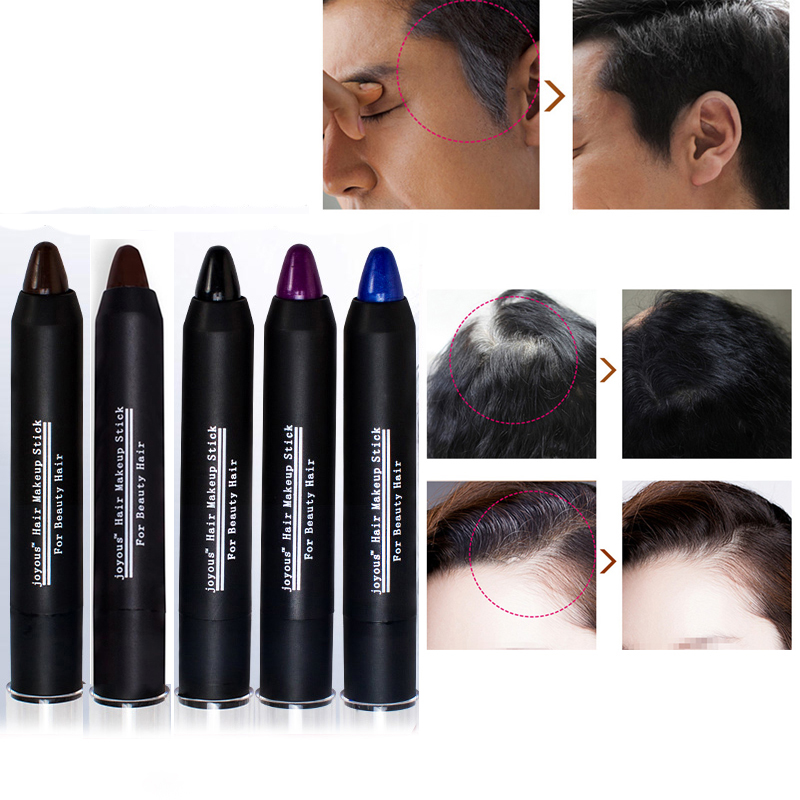 5 color Temporary Hair Dye Brand Hair Color Chalk Crayons Paint Hair Care Black/Dark/brown/Coffee/purple Men and women M02253 image
