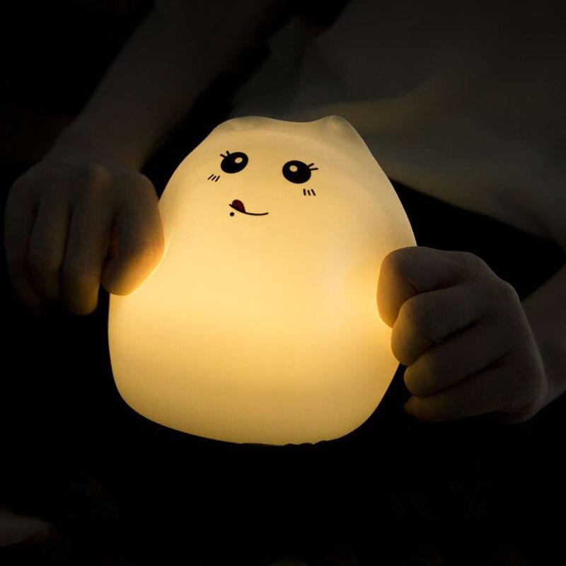 Luzes da Noite led usb luz da noite Material : Abs+silicon
