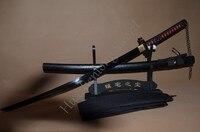 Bleach Japanischen Samurai Schwert Katana Hand Geschmiedet 1060 Hohe Carbon Full Tang Stahl Legierung Schutz Echtem Ray Haut Harte Echt sharp-in Schwerter aus Heim und Garten bei