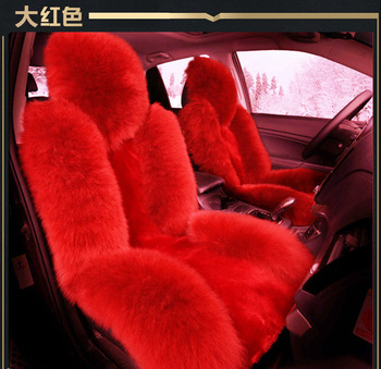 TO YOUR TASTE auto accessories universal luxury wool car seat cushion set for Kia Optima Carens Sportage Cadenza winter warming