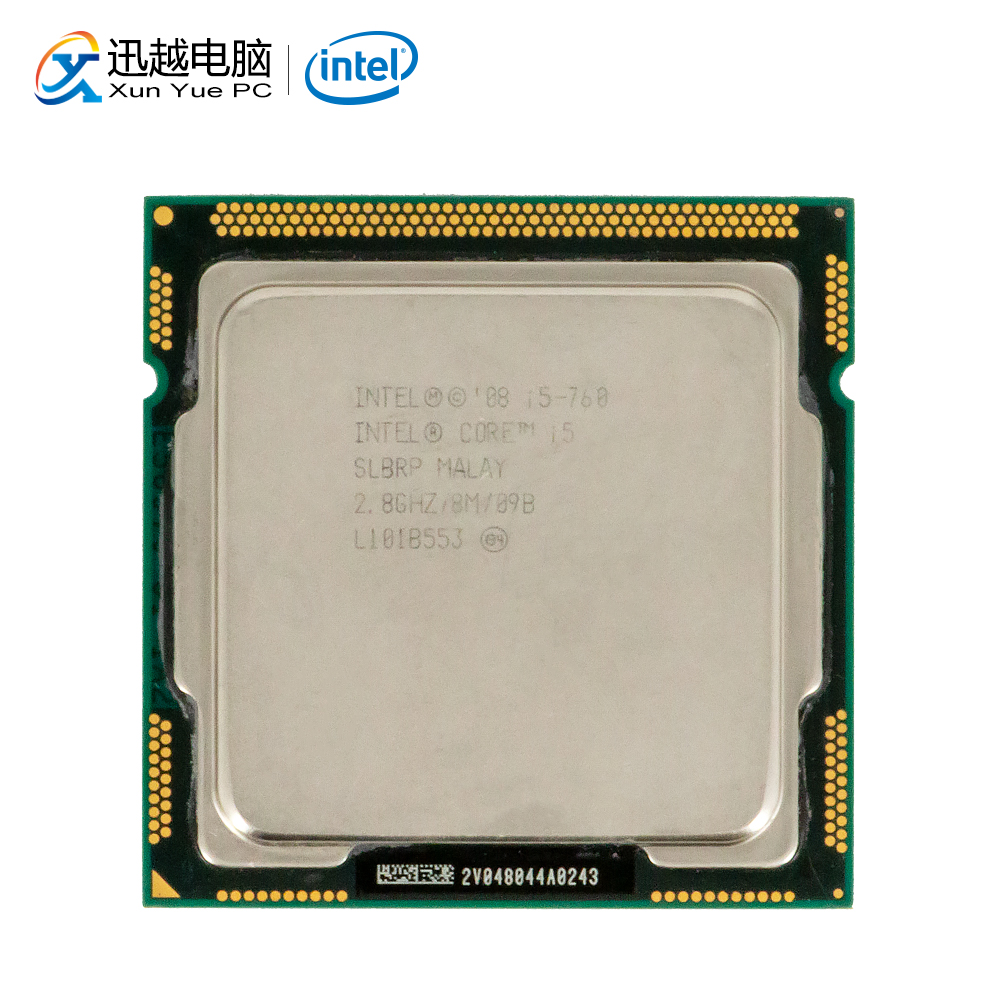 Intel Core I5 760 Desktop Processor I5-760 Quad-Core 2.8GHz 8MB L3 Cache LGA 1156 Used CPU
