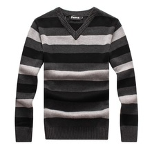 RICHARDROGER  men's sweater 2017 Spring Autumn new students South Korean Slim youth striped sweater 051