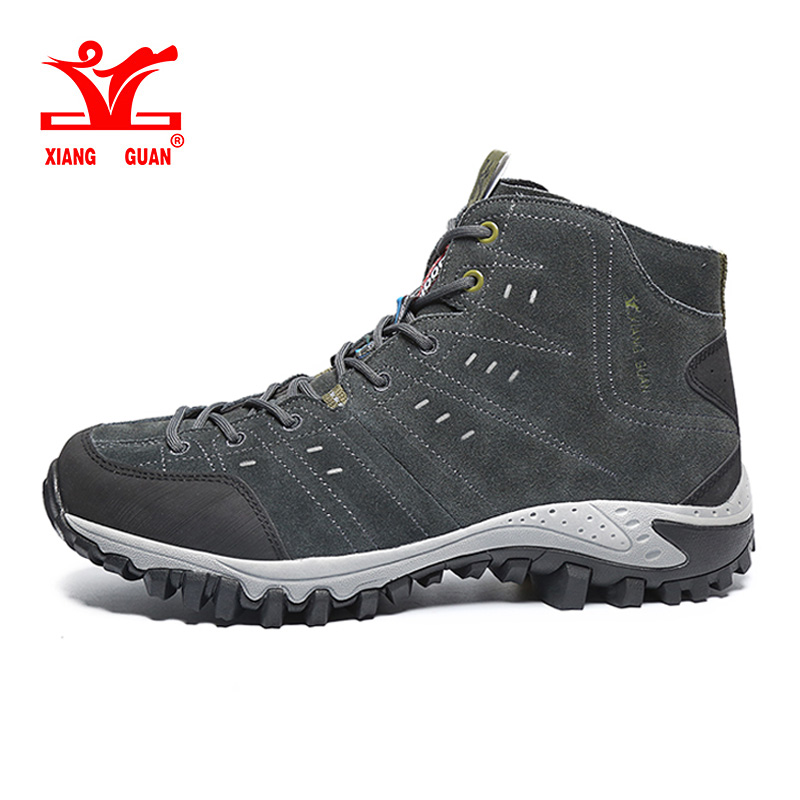 Hot XIANG GUAN Hiking Boots high for Man Breathable Mountain Climbing Outdoor Shoes high quality Combat boots sneakers 39-45 цена