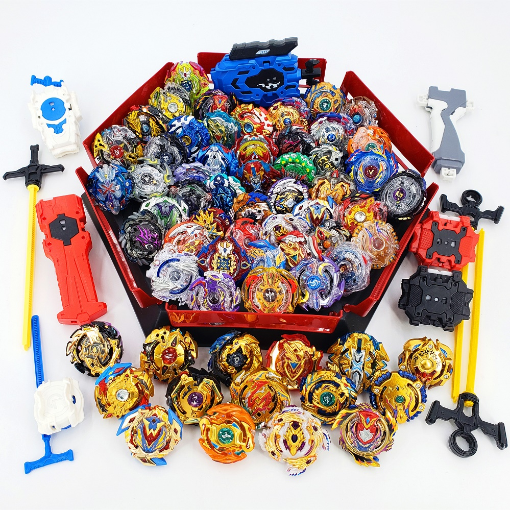 Todos los modelos Kai Watch Land juguetes con arranque y Arena Bayblade de fusión metálica Dios Spinning Top Bey Blade cuchillas Juguetes
