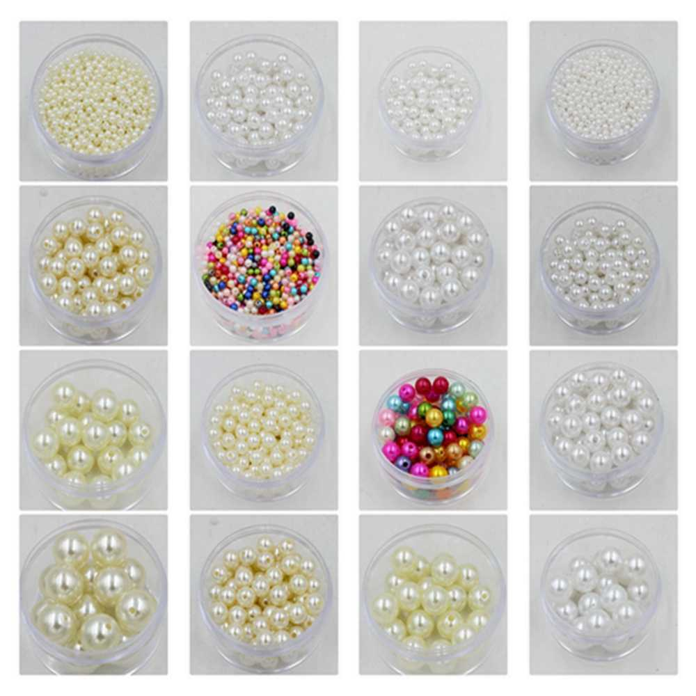 Wholesale Dia. 3-25mm Round Shape ABS Cheap Imitation Pearls White/Ivory Beads Handmade DIY Bracelet Jewelry Accessories Making