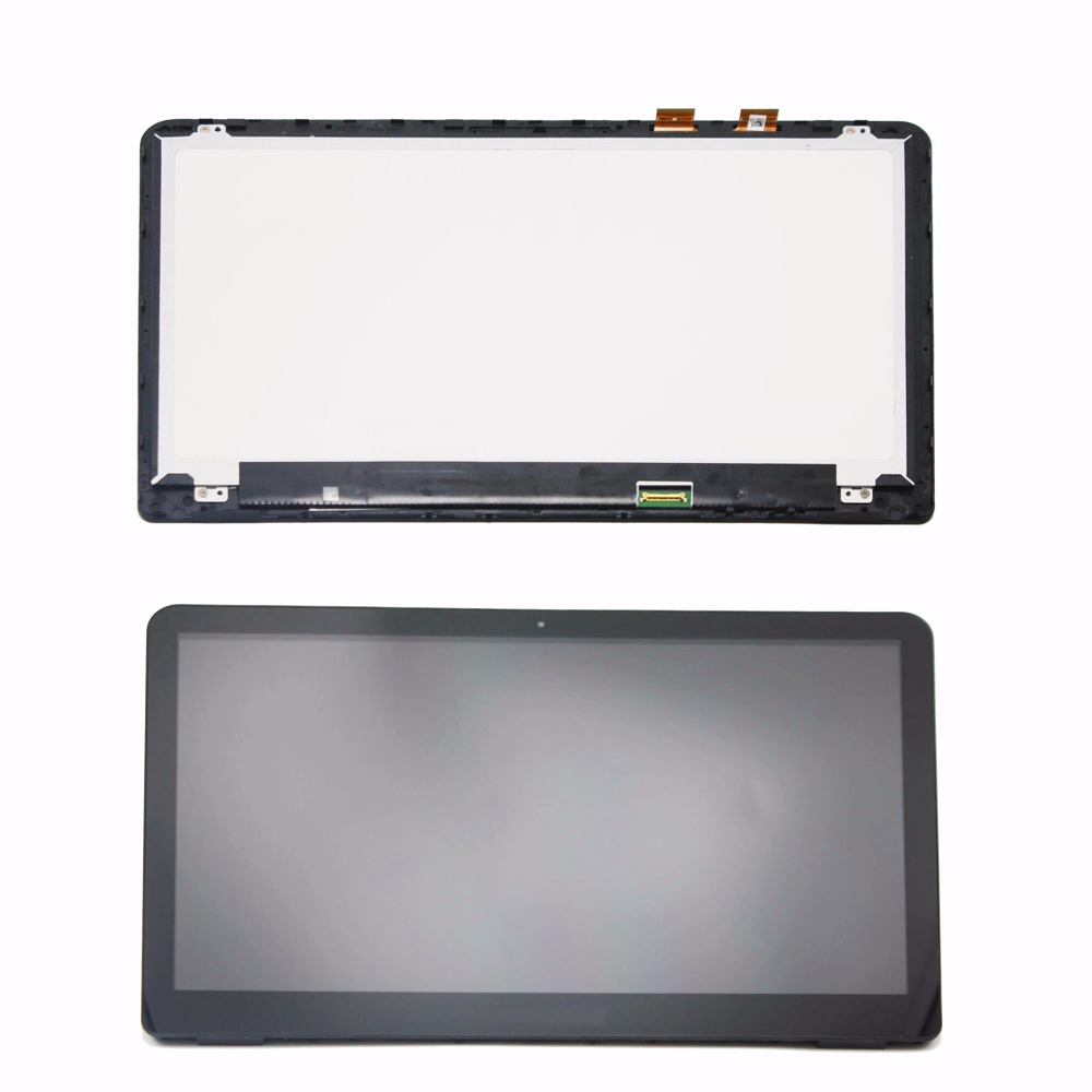 цена на 15.6 inch For HP ENVY x360 15t-w100 15t-w000 15t-w200 Touch Digitizer Glass Lens LCD Screen Display Assembly + Bezel Replacement