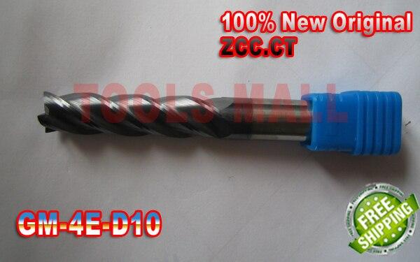 2pcs 10mm Original ZCC.CT GM-4E-D10.0 Cemented  Flat end mills  Carbide Milling Tools CNC Router bitsD10*25*D10*75 1pc 10mm gm 4e d10 0 original zcc ct carbide 4 flutes flat end mills d10 25 d10 75
