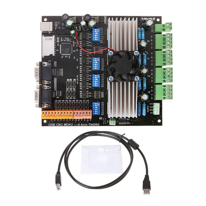 1 SET Smart Electronics USB MDK2 4 axes Tb6560 moteur pas à pas carte pilote 3.5A 24 V avec Interface MPG pour la gravure sur CNC