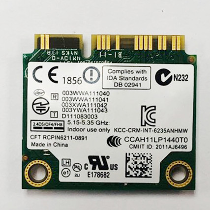 Image 2 - Dual Band 300Mbps 6235ANHMW Mini PCI E Laptop Wireless WiFi Card For Intel centrino advanced N 6235 Bluetooth 4.0 Network Card-in Network Cards from Computer & Office