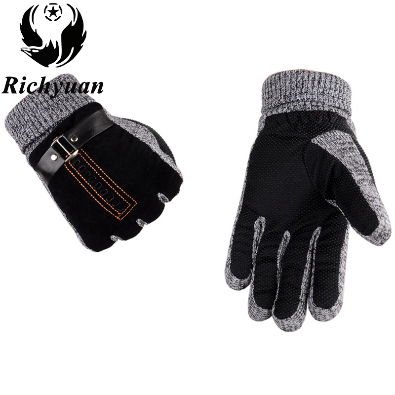 2017 winter men 39 s warm gloves natural suede leather gloves mittens male thick thermal leather. Black Bedroom Furniture Sets. Home Design Ideas