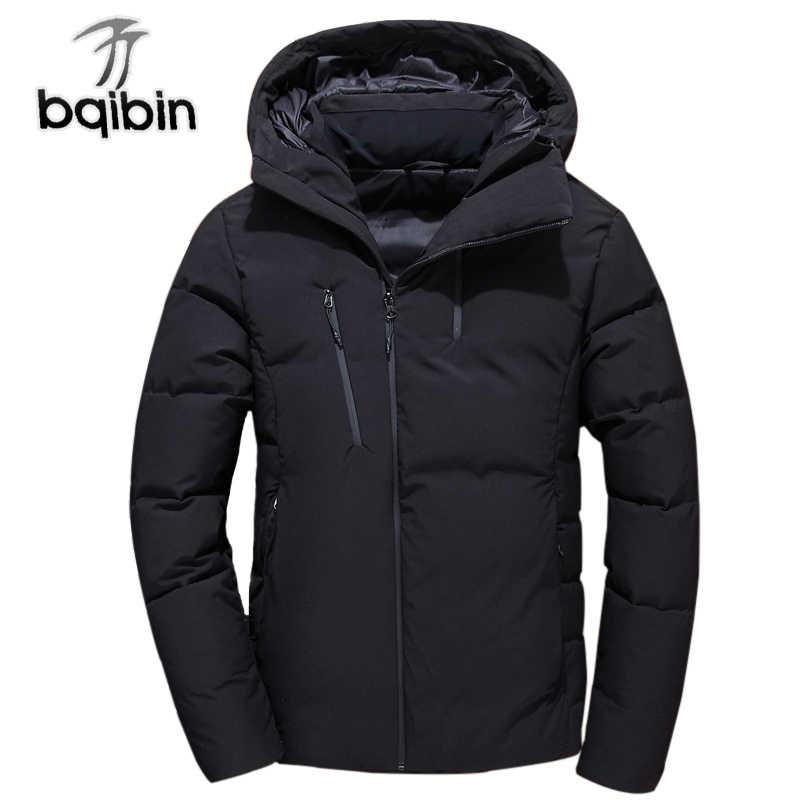 205566aa4 Jacket Men 2018 Thick Winter Fashion Coat Hood Detached Warm Parka ...
