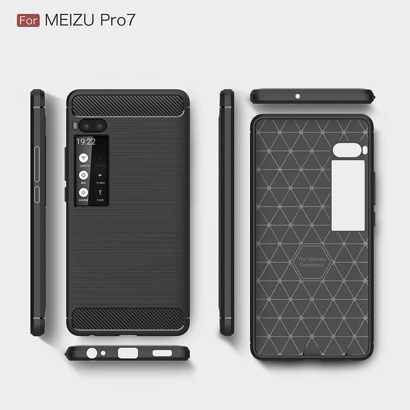 carbon fiber silicon case meizu pro 7 (9)