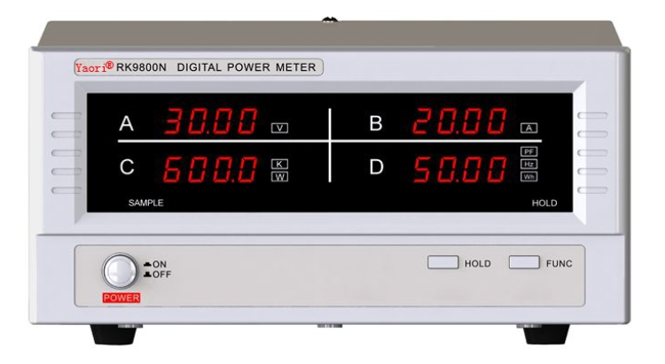 AC power factor meter RK9800N digital power meter 600V20A