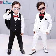 6da9224c48ebf 5 pièces enfants bébé fête robe garçon costumes enfants blanc blazer pour garçons  formel costume vêtements fleur garçon mariage .
