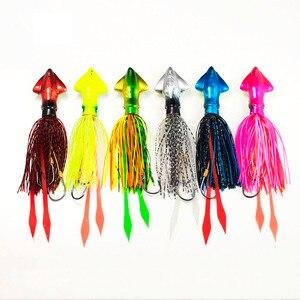 Countbass 90 г 3,17 унций кальмар Madai джиг приманка для рыбалки соленые резиновые джиггинг Snapper светящийся живот силиконовая юбка