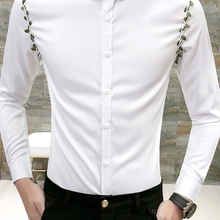Новая мода Горячая бренд весна осень Мужская Повседневная Высококачественная легкая верхняя одежда для мужчин тонкий корейский стиль подходят рубашки