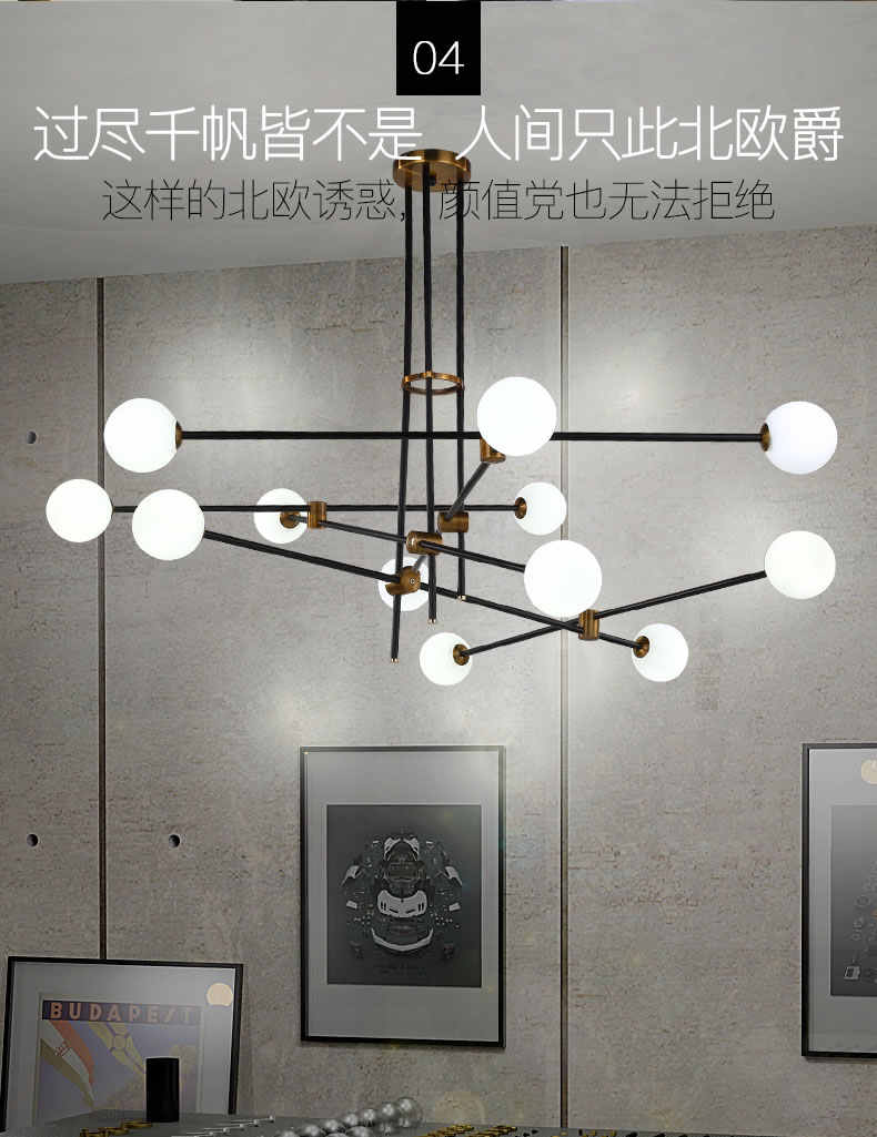 Скандинавские современные светодиодные подвесное светлое стекло шар пузырь iron herringbone branchliving ресторан спальня бар висящий канделяр E27
