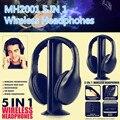 5 em 1 Auscultadores MH2001 HiFi Fone De Ouvido Sem Fio Fone de Ouvido Fone De Ouvido com Rádio FM para MP3 PC TV CD Estéreo Sem Fio bluetooth não