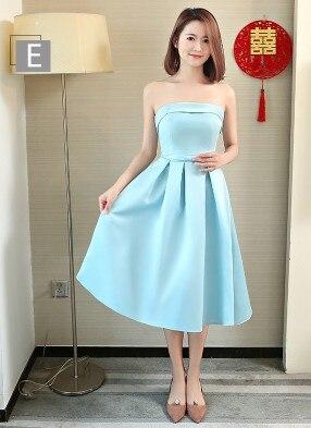 light sky blue teenage girls strapless robe bridesmaid formal fairytale satin dress girl braidsmaid party dresses wedding