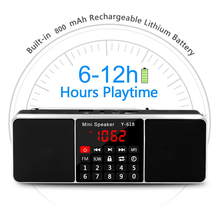 Lefon Digital FM Radio Receiver Speaker Stereo MP3 Player Support TF Card USB Drive LED Display Time Shutdown Portable Radios