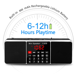 Image 5 - Lefon Digital FM Radio Receiver Speaker Stereo MP3 Player Support TF Card USB Drive LED Display Time Shutdown Portable Radios