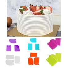 Hoomall 3 шт./компл. Пластик торт скребок набор многофункциональных лезвия Fondant(сахарная) для украшения тортов заварной крем масло шпатель