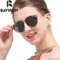 BAVIRON Arrow Legs Sunglasses Women Single Bridge Metal Frame Glasses Retro Oval Polarized Sunwear Classic Finishes Gafas 1189