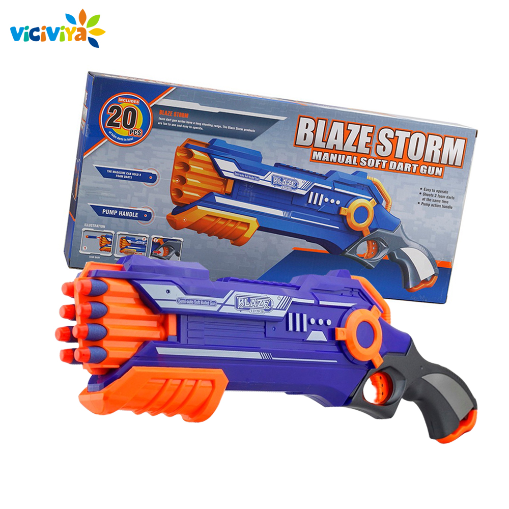 Funny Outdoors Toys For Kid Christmas Gift Soft Bullet Toy Gun Dart Suit Shooting Submachine Gun Weapon Soft Bullets Bursts Gun