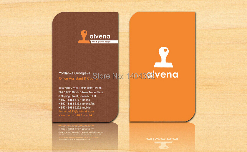 Free design 500pcslot custom shape business cards name card free design 500pcslot custom shape business cards name card printing business card printing color edge business cards in business cards from office reheart Gallery