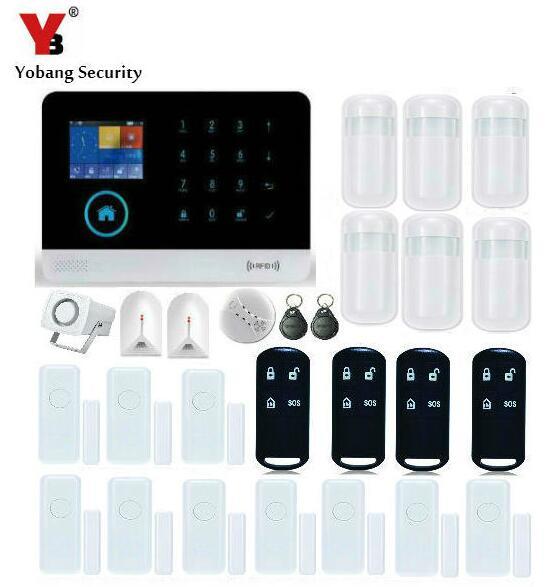 Sicherheitsalarm Yobang Sicherheit Lcd Display Wifi Alarm System Verdrahtet Sirene Kit Rfid Gsm Sms Alarm Haus Intelligente Diy Einbrecher System Zur Verbesserung Der Durchblutung