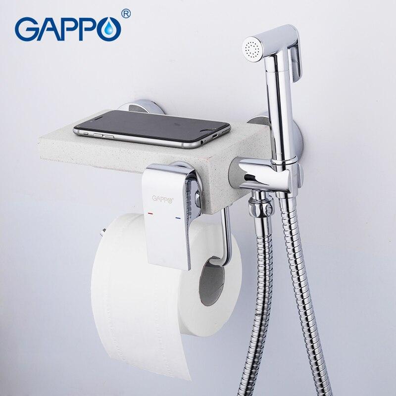 GAPPO bidet armaturen bidet wc wasserhahn bidet dusche sprayer multifunktionale bidet wc wasser wasserhähne für bad regal halter