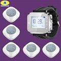 Золотая система безопасности FSK C166 часы Беспроводная система вызова пейджер для офиса ресторана кафе система обслуживания  5 кнопок пейджер...