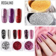 Rosalind prego glitter espelho mágico pó mergulhando para decoração do prego lantejoulas brilho espelho unha polonês em pó polimento design