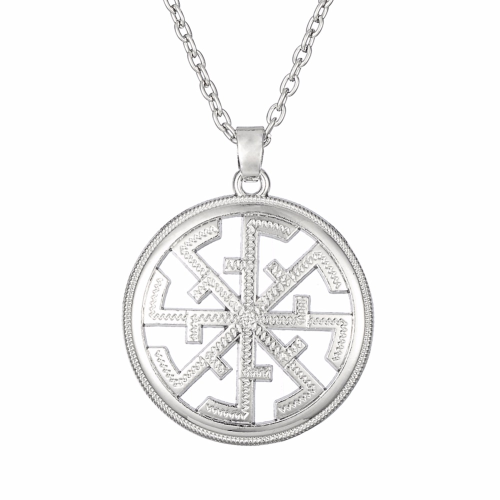 lemegeton silver  u0026 gold color russian slavic pendant necklaces link chain amulet charms