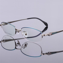 Brand genuine Pure titanium glasses For women Fashionable ha
