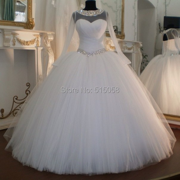 Sexy Open Back Long Sleeves White Organza Wedding Dresses Ball Gowns