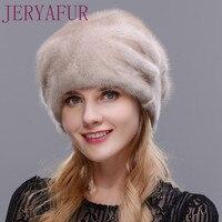 נשים כל מינק כובע הפרווה חורף כובע עוזרת מופל דמות פרח אמיתי 2017 יוקרה אופנה סיטונאי באיכות גבוהה משלוח גודל