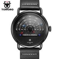 تومورو الأصلي 2018 الأكثر إبداعا التكتيكية ساعة فريدة من نوعها القراءة مصمم Reloj Hombre الرجال الساعات عادية الذكور ساعة كوارتز ساعة