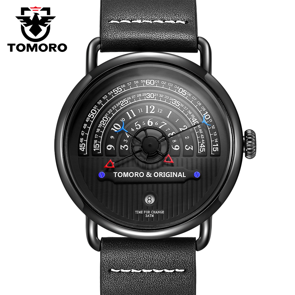 TOMORO Original 2017 Most Creative Tactical Unique Hour Reading Designer Reloj Hombre Men Watches Casual Male