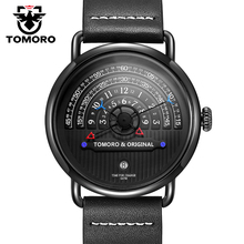 TOMORO D'origine 2017 Plus Créative Tactique Unique Heure de Lecture Design Reloj Hombre Hommes Montres Casual Male Horloge À Quartz Montre