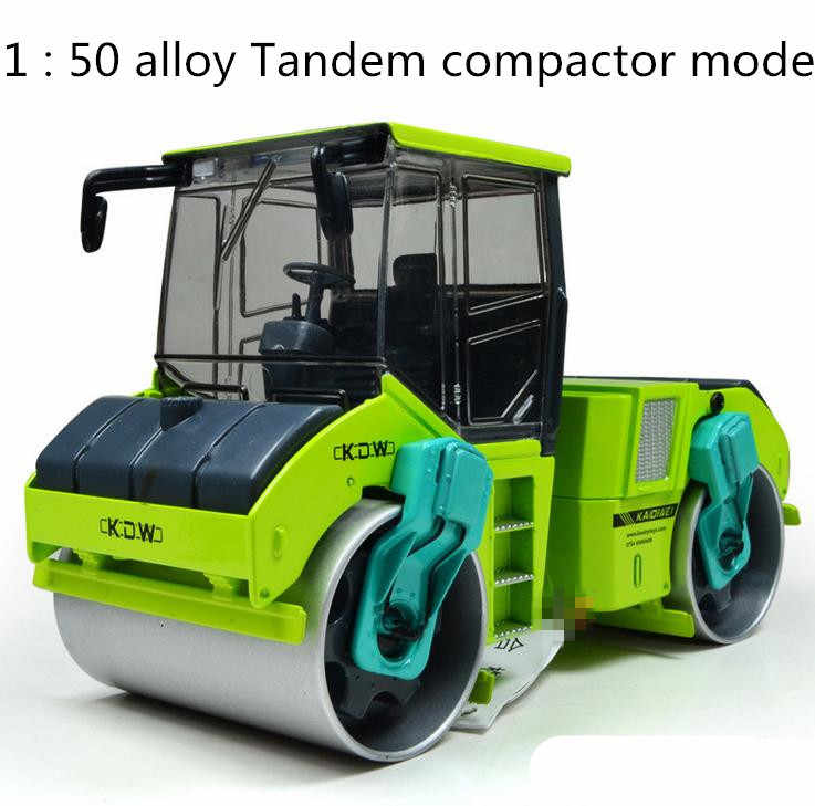 Free shipping! 1 : 50 alloy slide toy models construction vehicles, Tandem compactor model, Children's educational toys