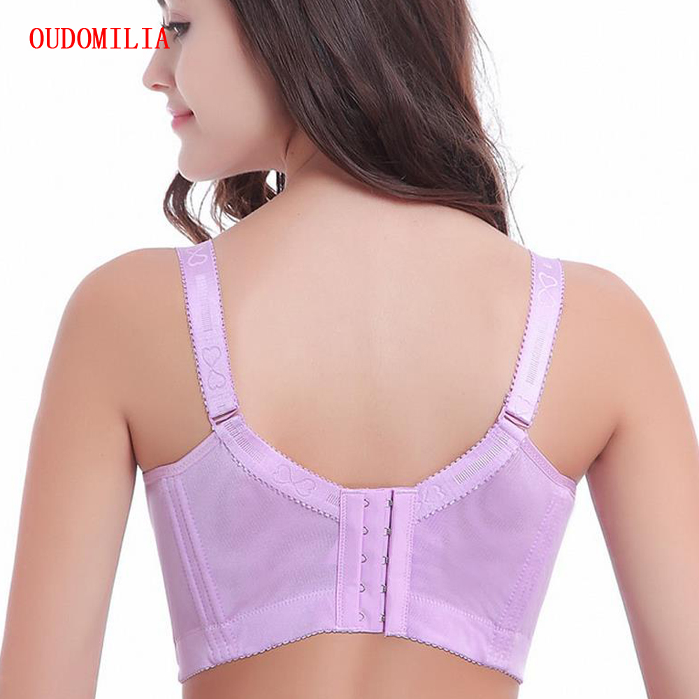 a95e9ffa21349 Xianqifen Plus Size Women Vest Bra Brassiere Femme Full Coverage Underwire  Bra Sexy Lingerie Lace Bralette ...