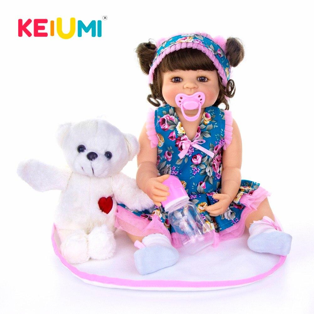 Oyuncaklar ve Hobi Ürünleri'ten Bebekler'de 2019 Sıcak satış 22 55 cm Reborn Bebek Kız Tam Silikon Vücut Reborn Bebekler Gerçekçi Çocuk Oyun Arkadaşları bebek oyuncakları Kız Doğum Günü hediyeler'da  Grup 1