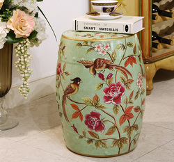 Fashion ceramic drum stool dressing sidetable stool for bedroom