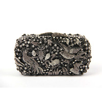 Wholesale Exquisite Full Crystal Bag Clutch Bag Evening Bag Animal Figure Women Party Purse