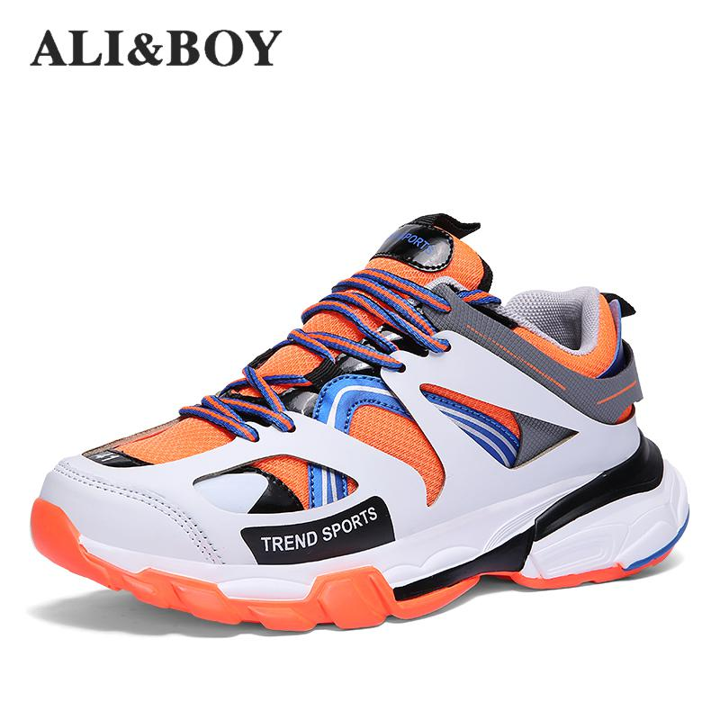 2019 New Men Sneakers High Top Running Shoes For Men Black White Outdoors Athletic Walking Sports