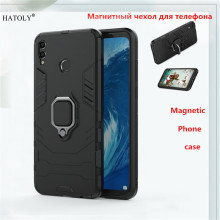 For Huawei Honor 8X Max Case Magnetic Finger Ring Armor Anti-knock Case For Huawei Honor 8X Max Cover For Honor 8X Max BSNOVT huawei honor 8x max case dual layer armor tpu pc shell shockproof back cover for huawei honor 8x max case honor 8x max funda 7 2